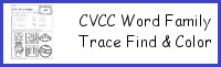 CVCC Word Family Trace Find & Color