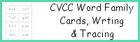 CVCC Word Family Cards, Writing & Tracing