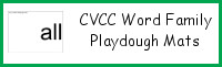 CVCC Word Family Playdough Mats