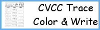 CVCC Word Family Trace Color and Write