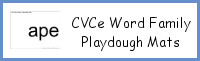 CVCe Word Family Playdough Mats