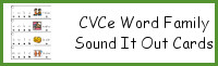 CVCe Word Family Sound It Out Cards