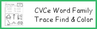 CVCe Word Family Trace Find & Color