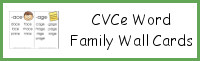 CVCe Word Family Wall Cards
