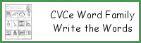 CVCe Word Family Write the Words