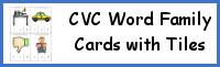 CVC Word Family Cards with Tile Letters