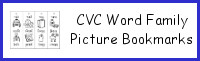 CVC Word Family Picture Bookmarks