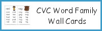 CVC Word Family Wall Cards