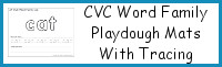 CVC Word Family Playdough Mats With Tracing