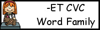 CVC Word Family Printables: -ET