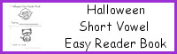 Halloween Short Vowel: Easy Reader Book