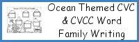 Ocean Themed CVC & CVCC Word Family Writing