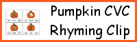 Pumpkin CVC Rhyming Clip Cards