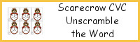 Scarecrow CVC Unscramble the Word