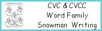 CVC & CVCC Word Family Snowman Writing