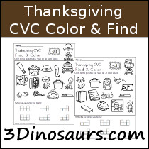 Thanksgiving CVC Color & Find