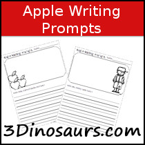 Apple  Writing Prompts - 3Dinosaurs.com