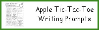 Apple Tic-Tac-Toe Writing Prompts