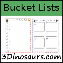 Blank Bucket Lists Printables - 3Dinosaurs.com
