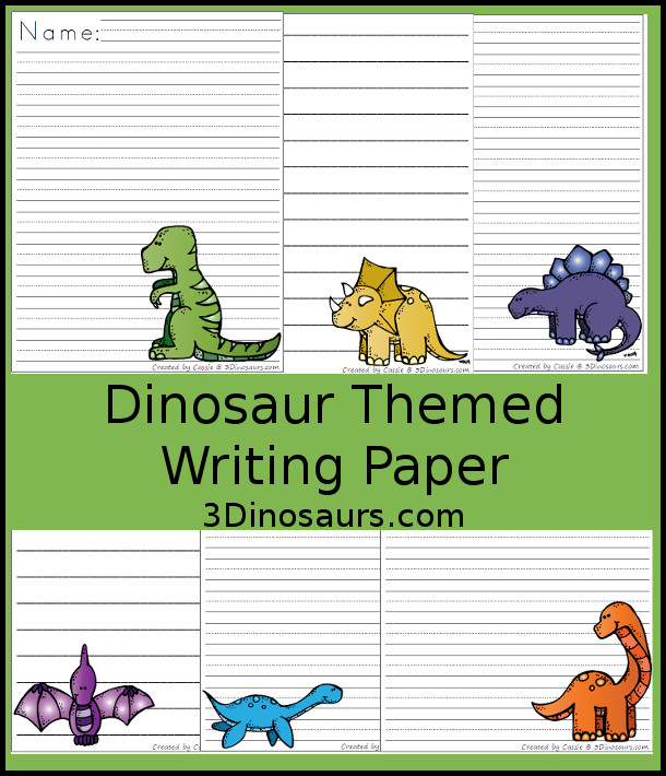 dinosaur writing paper Dltk's custom writing paper looking for a way to create themed writing paper the next few steps will allow you to choose a theme for the top and bottom borders of.