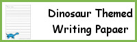Dinosaur Themed Writing Paper