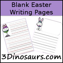 Easter Themed Writing Paper - 3Dinosaurs.com