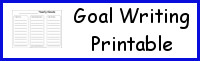 Goal Writing Printable