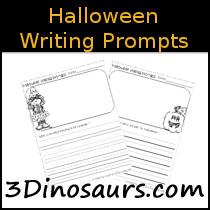 3 Dinosaurs - Seasonal Writing Prompts Printables