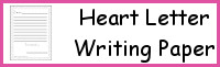 Heart Letter Writing Paper