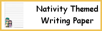 Nativity Themed Writing Paper