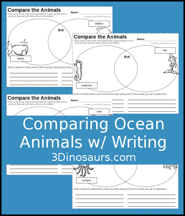 Comparing Ocean Animals With A Venn Diagram 3 Dinosaurs