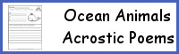 Ocean Animals Acrostic Poems