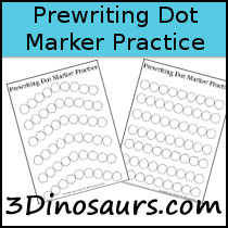 Prewriting Dot Marker - 3Dinosaurs.com