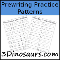 Prewriting Practice Patterns Printable - 3Dinosaurs.com