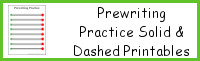 Prewriting Practice Solid and Dashed Printables