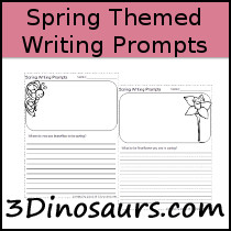 Spring Themed Writing Prompts - 3Dinosaurs.com