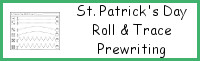 St. Patrick's Day Roll & Trace Prewriting