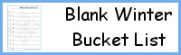Blank Winter Bucket Lists