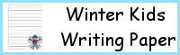 Winter Kids Themed Writing Paper