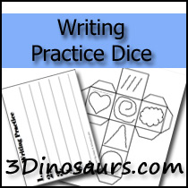 Prewriting Practice Dice