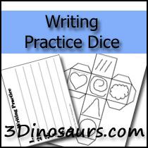 Writing Practice Dice