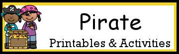 Pirate Themed Printables and Activities