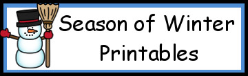 Season of Winter Printables