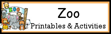Zoo Themed Activities and Printables